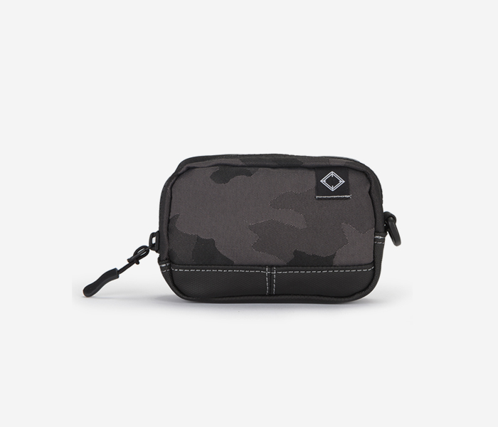 N240 CAMERA POUCH - JACQUARD CAMO brownbreath
