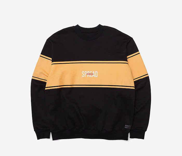 SPREAD CREWNECK KD - BLACK brownbreath
