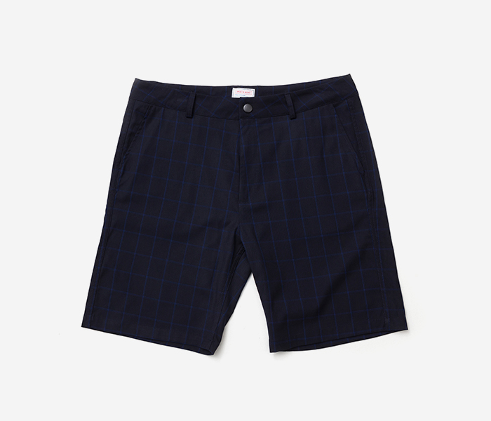 B CHECK SHORTS - BLACK brownbreath