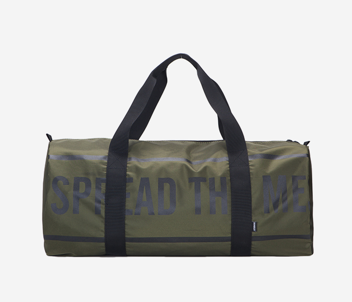 SLOGAN M.DUFFLE BAG - KHAKI brownbreath