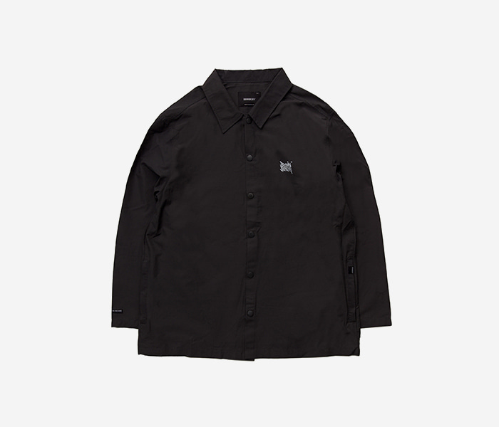 TAGGING COACH JACKET - BLACK brownbreath