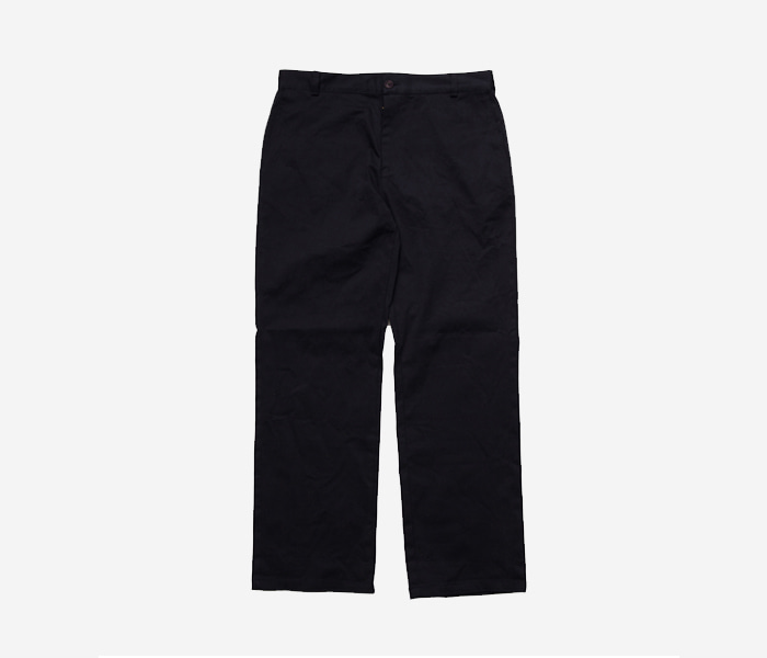 B CHINO PANTS - NAVY brownbreath