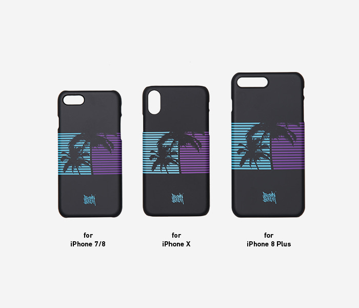 PALMTREE CASE - BLACK brownbreath