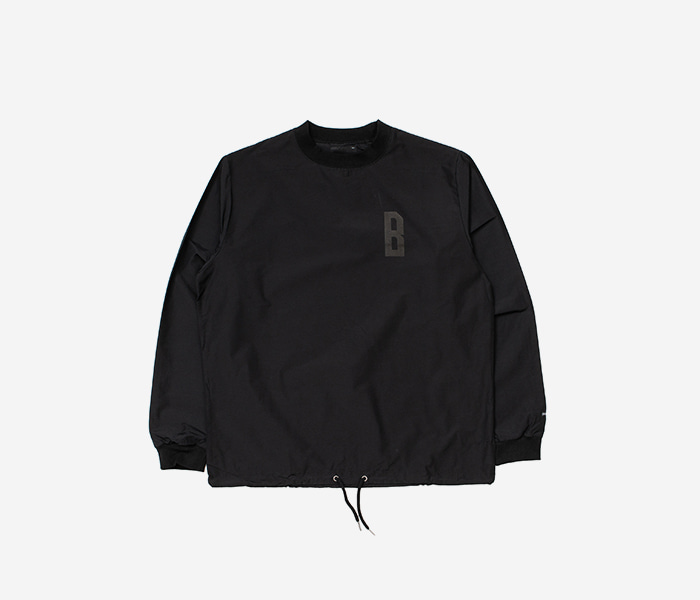 STEADY B WOOVEN CREWNECK - BLACK brownbreath