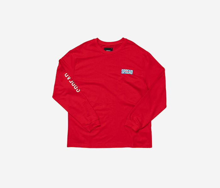 SPREAD 90 LONGSLEEVE - RED brownbreath
