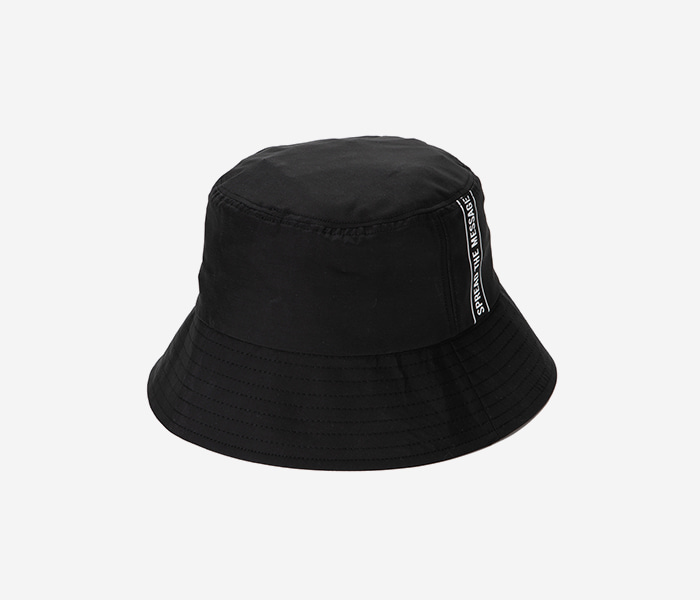 STEADY B BUCKET HAT - BLACK brownbreath