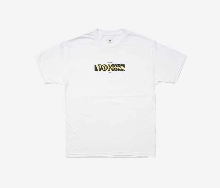 MESS TEE - WHITE brownbreath