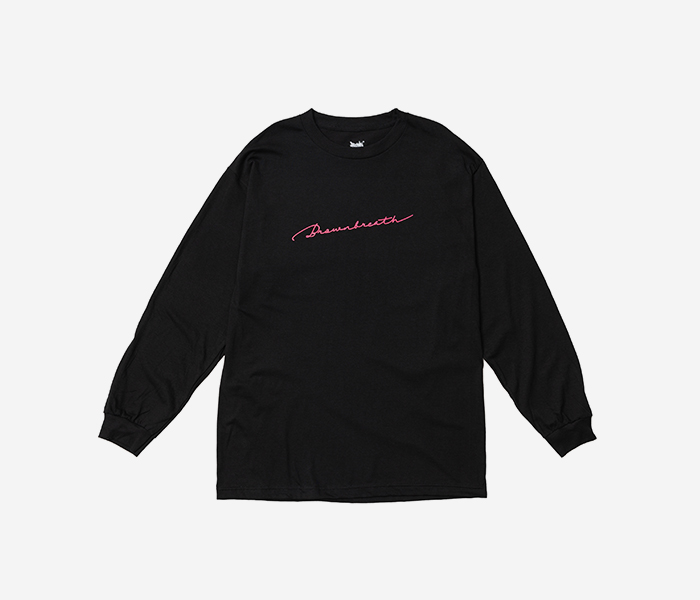 SIGNATURE LONGSLEEVE - BLACK brownbreath