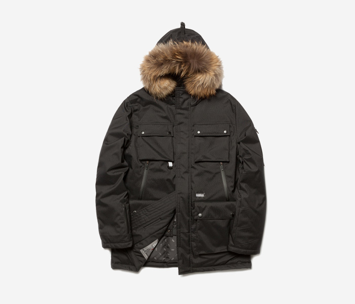 HEXA DUCK DOWN PARKA - BLACK brownbreath
