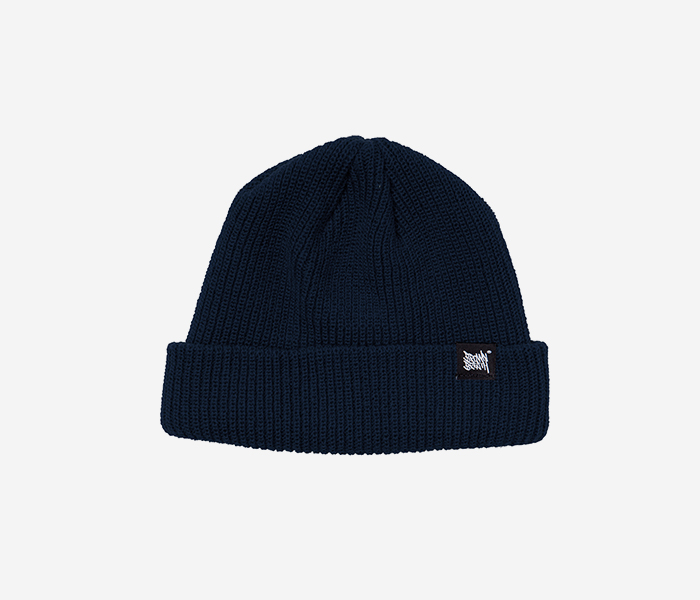 TAGGING SHORT BEANIE - NAVY brownbreath