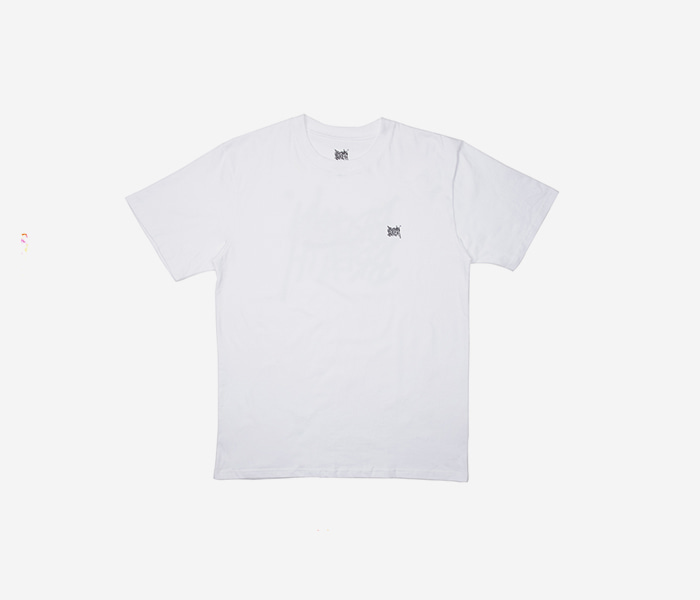TAG TEE - WHITE brownbreath