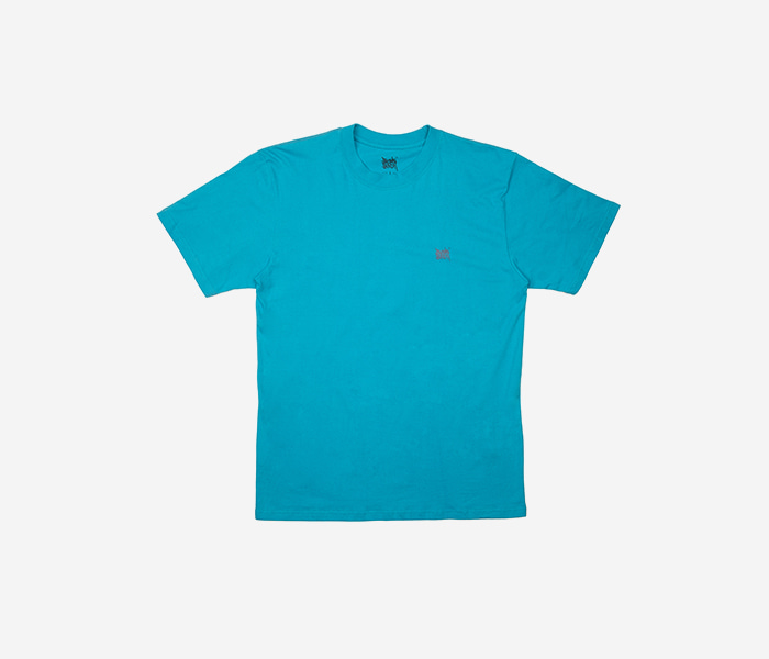 LOCKED TEE - CYAN brownbreath
