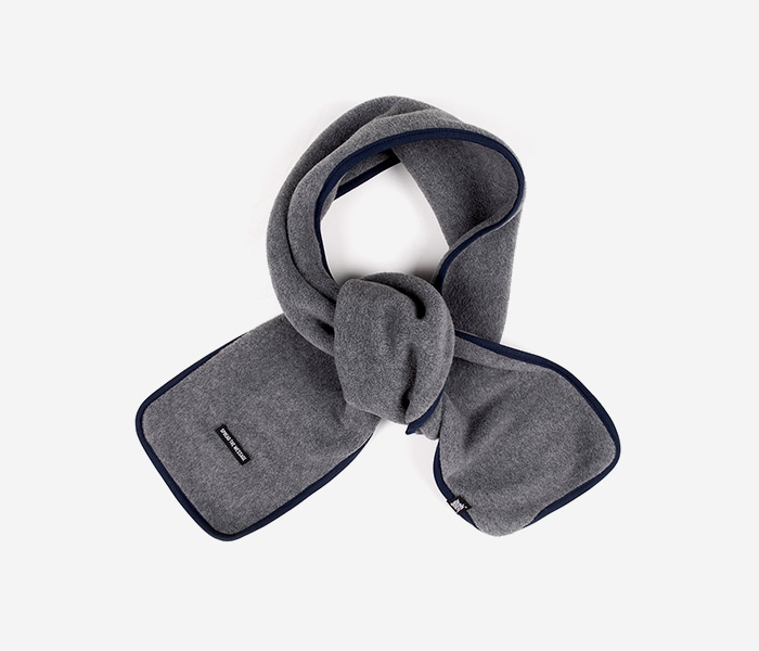 NOMAD FLEECE MUFFLER - GREY brownbreath