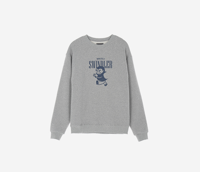 SWINDLER CREWNECK  - GREY brownbreath