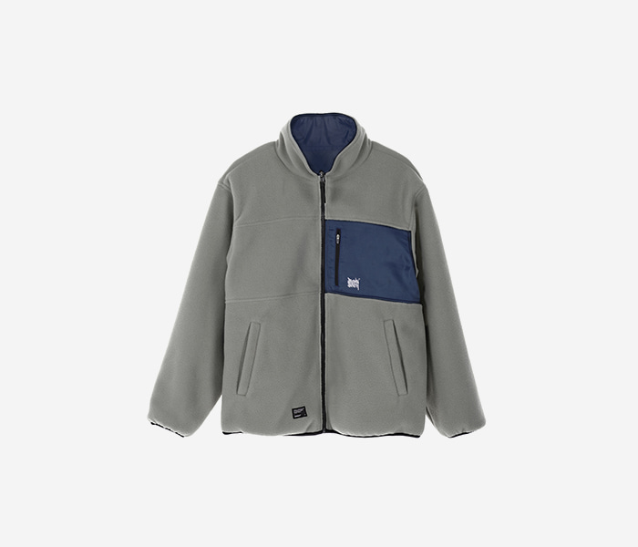 TAG REVERSIBLE FLEECE JACKET - GREY brownbreath