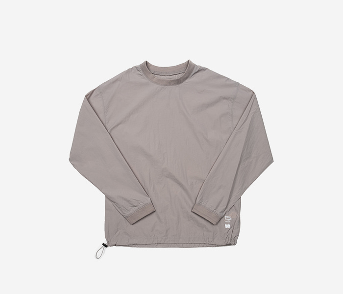 STRIVE WOOVEN CREWNECK - GREY brownbreath