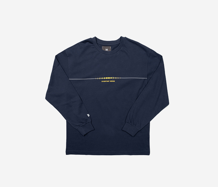 GRIND LONGSLEEVE - BLUE brownbreath