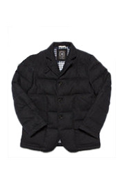 UNITY PADDING BLAZER GU - Navy brownbreath