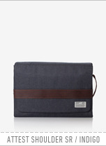 ATEEST SHOULDER SR - INDIGO(DENIM) brownbreath