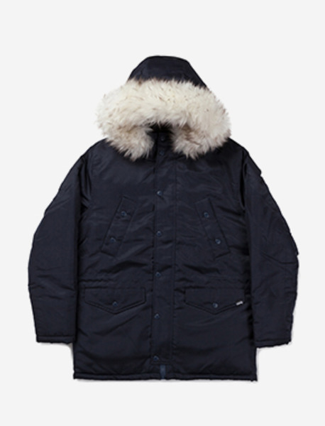 WILL PARKA - NAVY brownbreath
