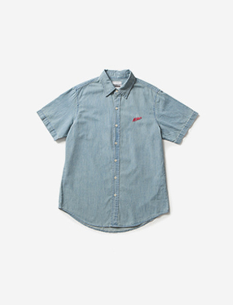 16 BARS DENIM HALF SHIRTS brownbreath