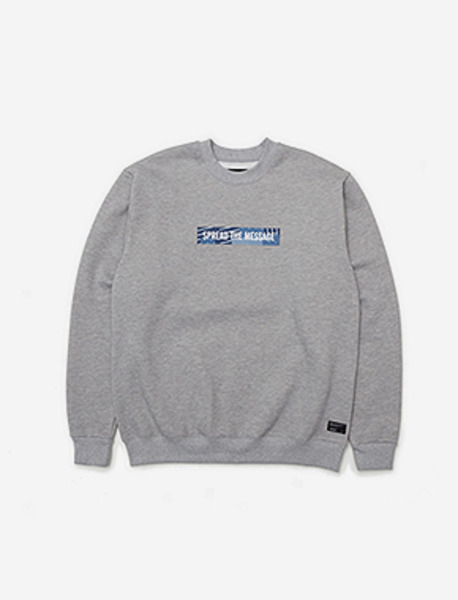 STM CREWNECK KD - GREY brownbreath