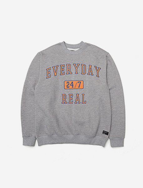 247 CREWNECK - GREY brownbreath
