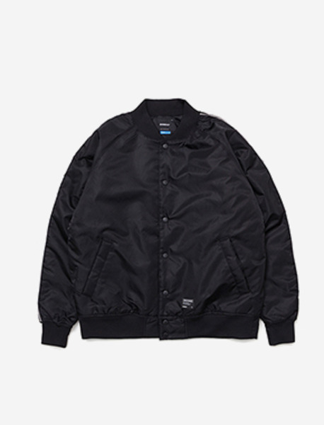 LILSIGN STADIUM JACKET - BLACK brownbreath