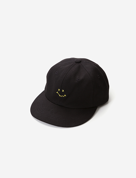 HELL(O) 6PANNEL CAP - BLACK brownbreath