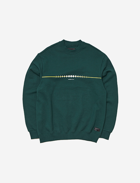 GRIND CREWNECK - GREEN brownbreath