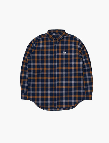 B MOVE CHECK SHIRTS - YELLOW brownbreath