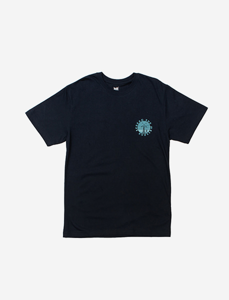 SIGNAL TEE - NAVY brownbreath