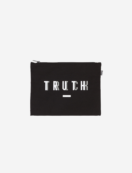 TRUTH M.POUCH - BLACK  brownbreath