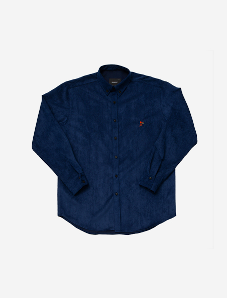 DEADMAN CORDUROY SHIRTS - BLUE brownbreath