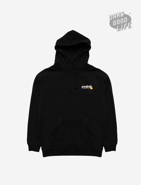 UNAVOIDABLE HOODIE - BLACK brownbreath