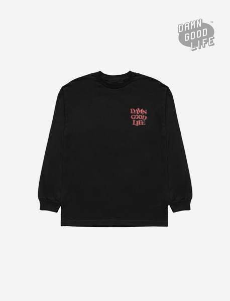 DAMNGOODLIFE LONGSLEEVE - BLACK brownbreath
