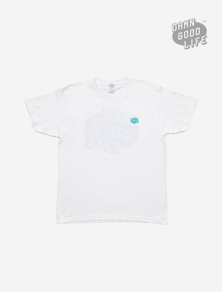 DGL SYMBOL TEE - WHITE brownbreath