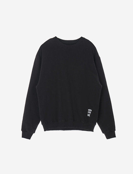 CREDIT CREWNECK - BLACK brownbreath