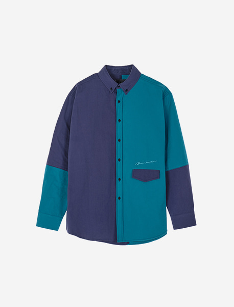 SIGNATURE BLOCK SHIRTS - NAVY brownbreath