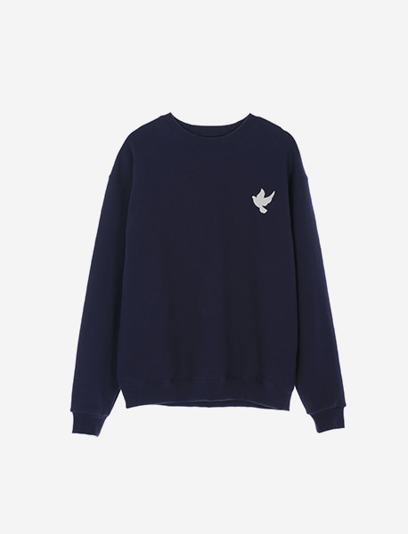 BEFREE CREWNECK - NAVY brownbreath