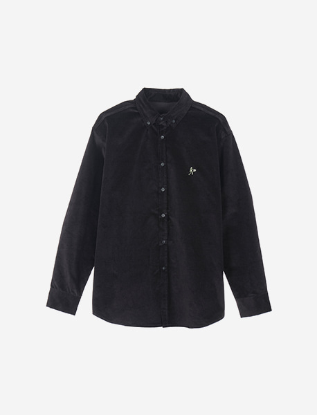 DEADMAN CORDUROY SHIRTS - BLACK brownbreath