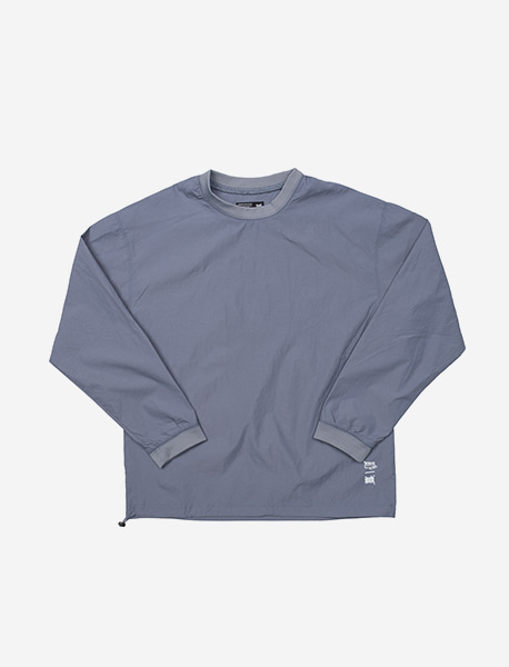 STRIVE WOOVEN CREWNECK - BLUE brownbreath