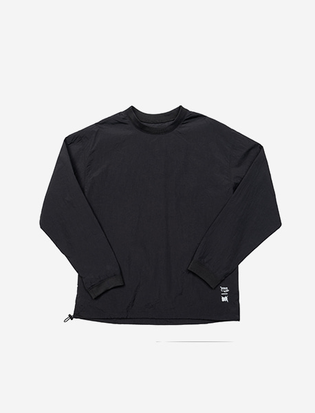 STRIVE WOOVEN CREWNECK - BLACK brownbreath