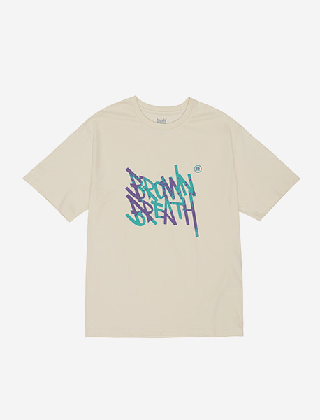 SPLASH TEE - CREAM brownbreath