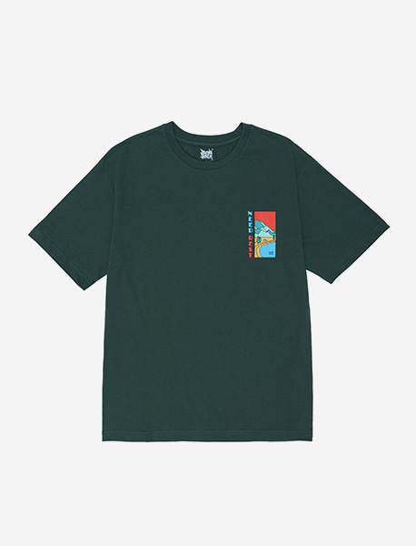NEED REST TEE - GREEN brownbreath