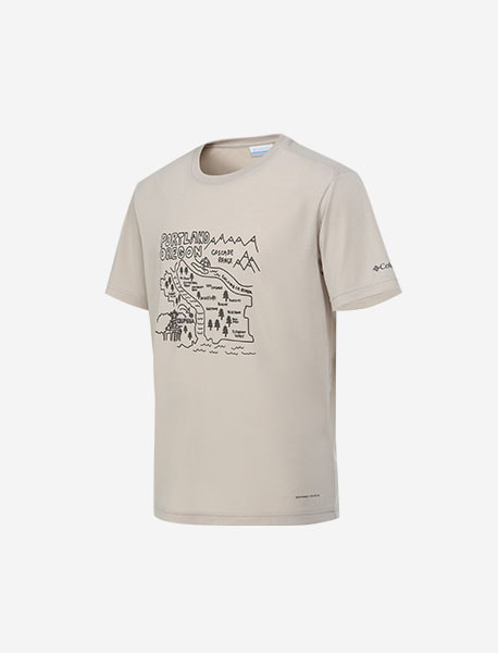UNI DRAWING GRAPHIC T-SHIRTS brownbreath