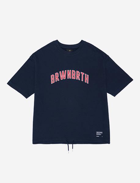 BRWN TEE - NAVY brownbreath