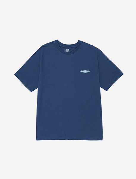 PATTERN TEE - BLUE brownbreath