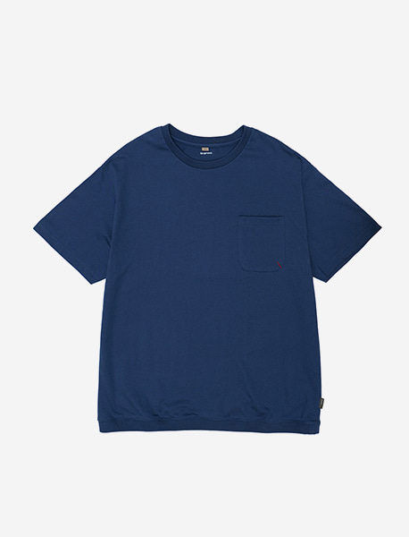 NOGREED POCKET T - BLUE brownbreath