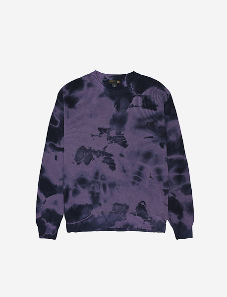 TAG KNIT SWEATER - PURPLE brownbreath